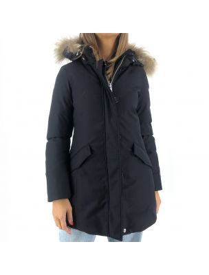 WOOLWWOU0352FR3989 W's Luxe Artic Parka Loro Piana Jacket - Blue - Fabbrica Ski Sises Biella