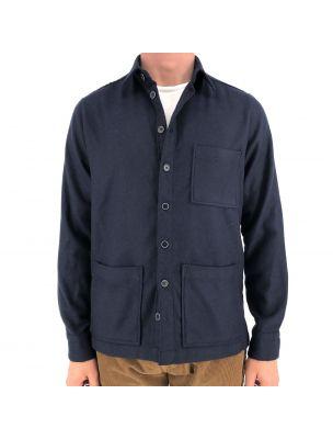BASTFIL03/3 Camisa Overshirt Hombre - Azul - Fabbrica Ski Sises Biella