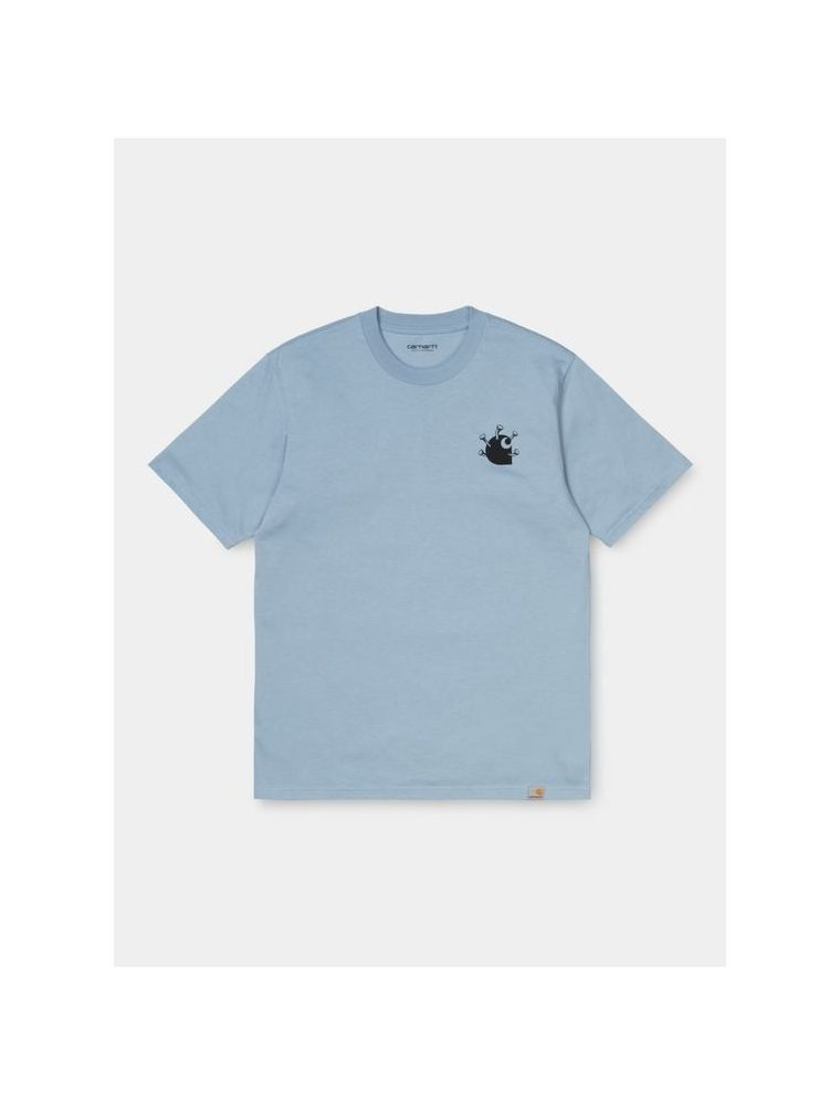 CARHI028495.03OF490 T-shirt S/S Nails Homme - Bleu Clair - Fabbrica Ski Sises Biella