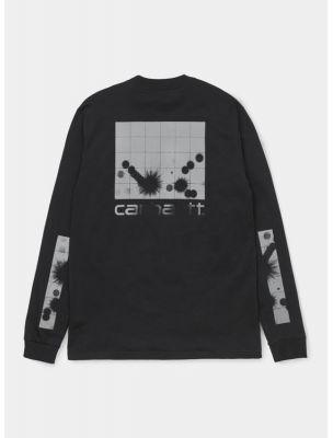 CARHI028462.038990 Mann L/S Reflective T-shirt - Schwarz - Fabbrica Ski Sises Biella