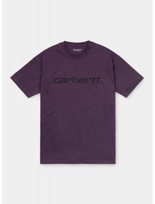 CARHI028442.03OE890 Women's S/S Script T-shirt - Violet - Fabbrica Ski Sises Biella