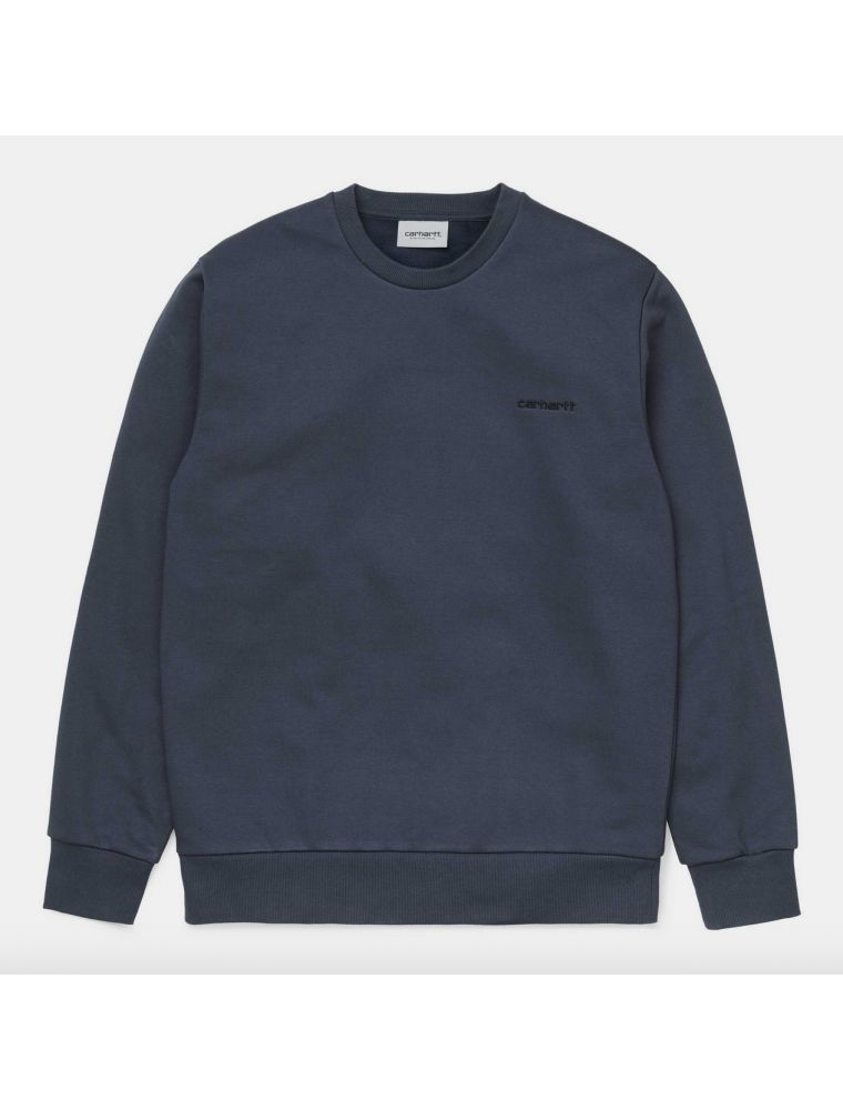CARHI027678030E090 Men's Script Embroiery Sweater - Blue - Fabbrica Ski Sises Biella