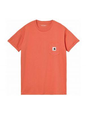 CARHI029070030AO00 T-shirt S/S Pocket Femme - Orange - Fabbrica Ski Sises Biella