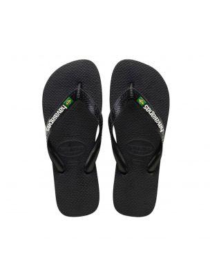 HAVA41108501069 Mann Brasil Logo Flip-Flops - Schwarz - Fabbrica Ski Sises Biella