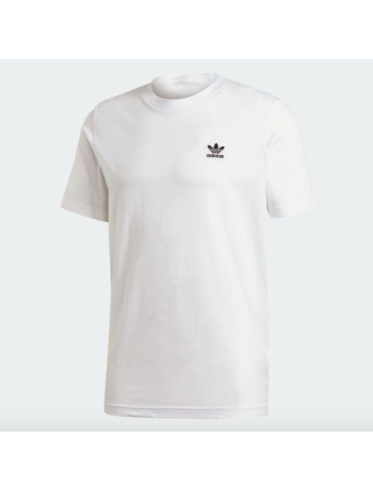 ADIDFM9966 Men's Trefoil Essential T-shirt - White - Fabbrica Ski Sises Biella