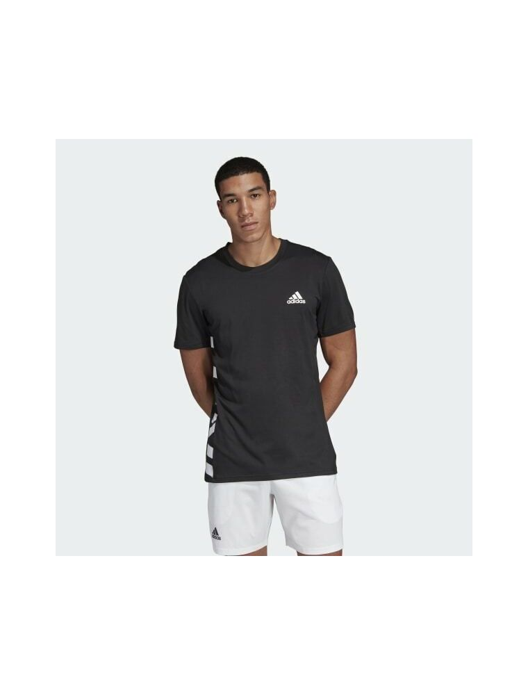 ADIDAS T-shirt Escouade Uomo Nera - Fabbrica Ski Sises Biella