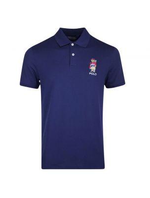POLO781811158003 Polo Bear Golf Homme - Bleu - Fabbrica Ski Sises Biella