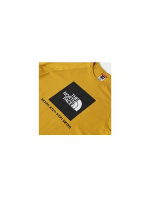 NORTNF0A3BQOH9D1 Mann Raglan Red Box T-shirt Gelb - Fabbrica Ski Sises Biella