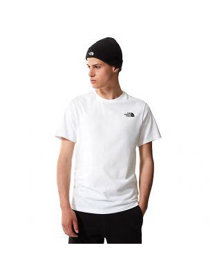 NORTNF0A51D6FN41 Camiseta Threeyama Hombre blanco - Fabbrica Ski Sises Biella