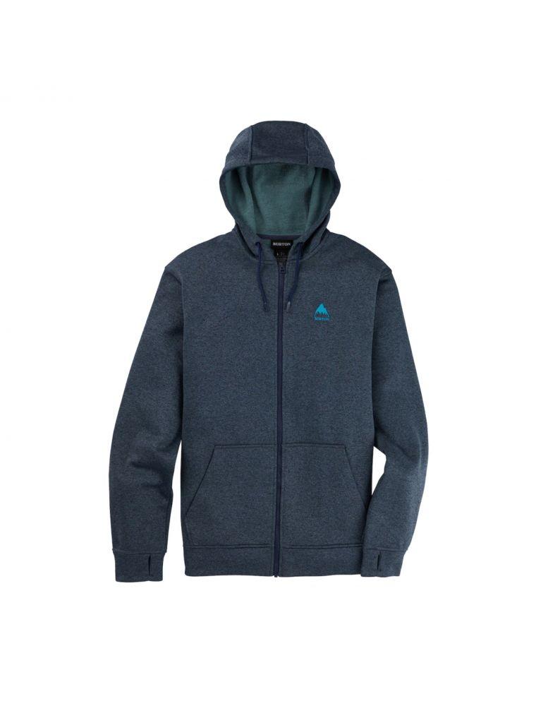 BURT16224110400 Men's M Oak FZ Sweater - Blue - Fabbrica Ski Sises Biella
