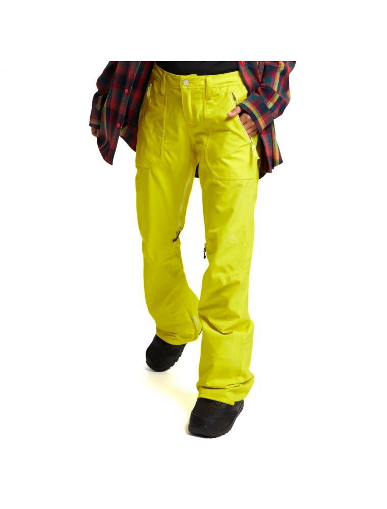 BURT15006105700 Women's WB Vida Trousers - Yellow - Fabbrica Ski Sises Biella