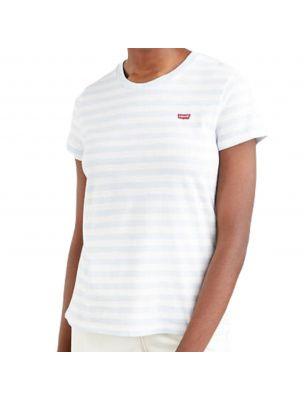 LEVI3918501460 T-shirt Perfect Plein Air Femme blanc - Fabbrica Ski Sises Biella