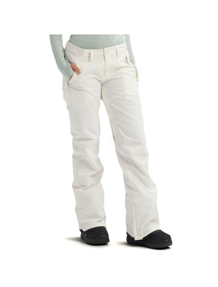 BURT10100106100 Pantalon WB Society Femme - Blanc - Fabbrica Ski Sises Biella