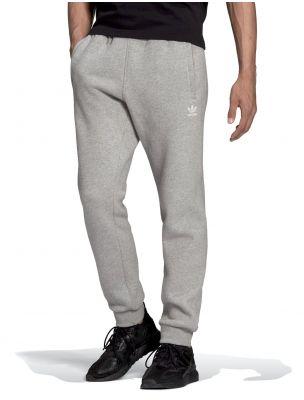ADIDH34659 Men's Essential Trefoil Trousers Grey - Fabbrica Ski Sises Biella