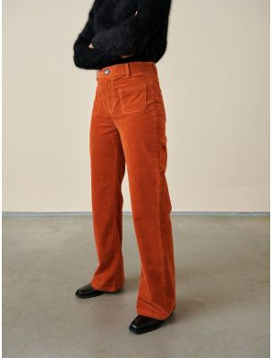 BELLPARKR0806798 Women's Park Trousers Orange - Fabbrica Ski Sises Biella