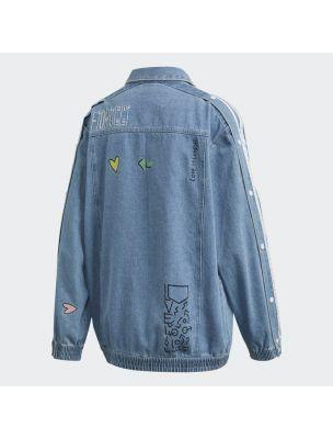ADIDFL4147 Women's Fiorucci Denim Jacket Jacket - Denim - Fabbrica Ski Sises Biella