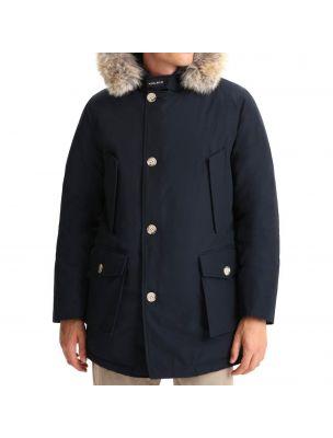 WOOLRICH Giacca Arctic Detachable Fur Parka Uomo Blu - Fabbrica Ski Sises Biella