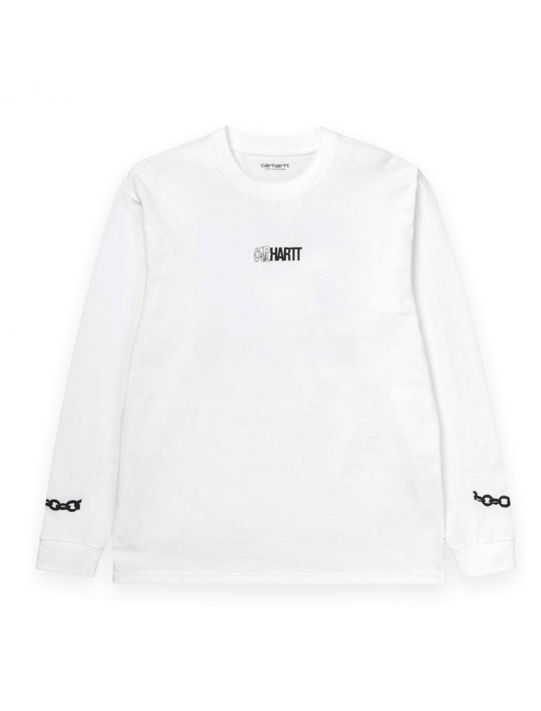 CARHI028501030200 Camiseta L/S Twisted Hombre - Blanco - Fabbrica Ski Sises Biella