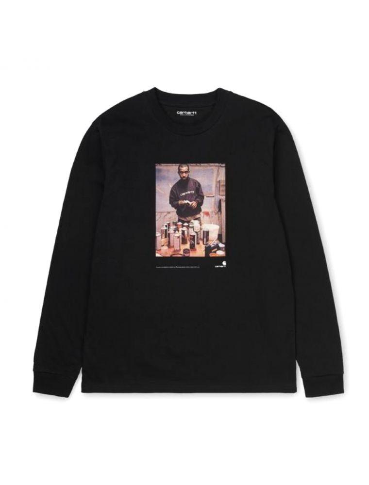 CARHI028503.038900 Camiseta L/S 1998 AD Hombre - Negro - Fabbrica Ski Sises Biella