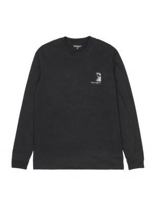 CARHI028462.038990 T-shirt L/S Reflective Homme - Noir - Fabbrica Ski Sises Biella