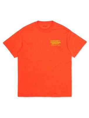 CARHI028491030G000 Mann S/S Screws T-shirt - Orange - Fabbrica Ski Sises Biella