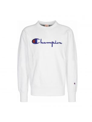 CHAM210975WW001 Pull Crewneck Homme - Blanc - Fabbrica Ski Sises Biella