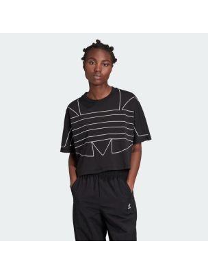 ADIDGD2357 T-shirt Large Logo Femme - Noir - Fabbrica Ski Sises Biella