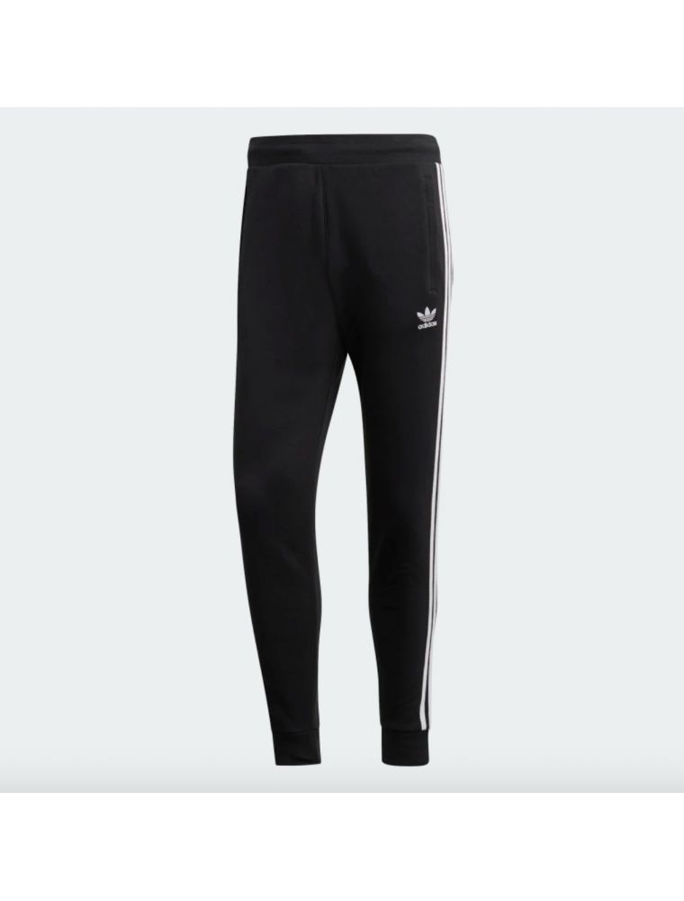 ADIDDV1549 Pantalones 3-Stripes Hombre - Negro - Fabbrica Ski Sises Biella