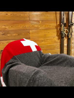 BAROPLSUISS-TQM1 Plaid Pl Swiss 145x200 - Gris - Fabbrica Ski Sises Biella
