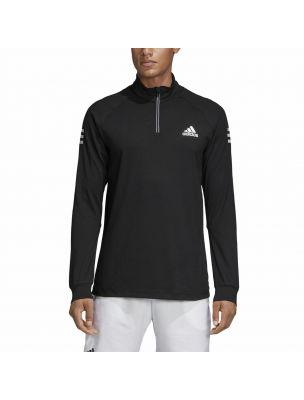 ADIDDU0885 Suéter Club Midlayer Hombre - Negro - Fabbrica Ski Sises Biella